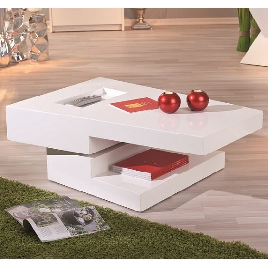 Independent Rotating White Gloss Coffee Table_2