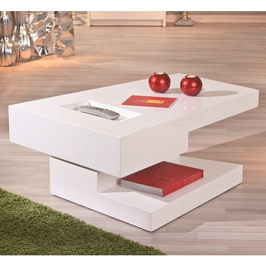 Independent Rotating White Gloss Coffee Table_3