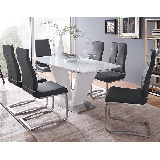 Buy White Lacquer Extendable Dining Table Bristol Furniture In Fashion Blog