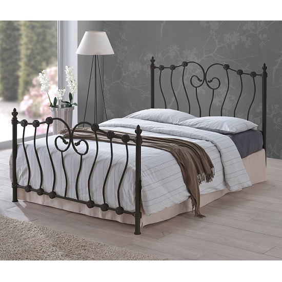 Inova Modern Designer Bed In Black Metal