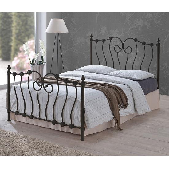 Inova Modern Designer Bed In Black Metal