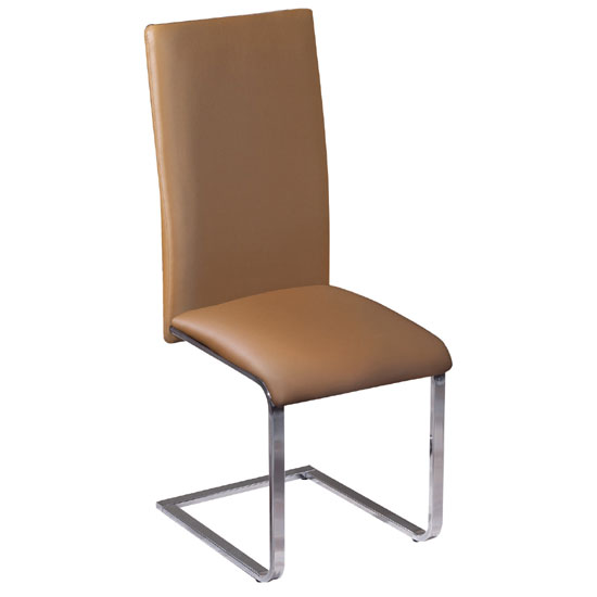 'Arizona Brown Faux Leather Dining Chair