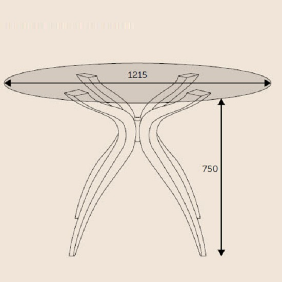 Jenson Dining Table Round In Glass Top With Walnut Legs_4