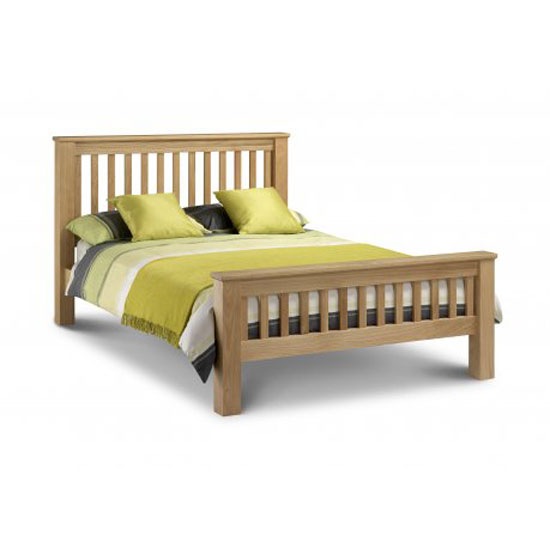 Amsterdam 150Cm Wooden Bed In Oak Finish