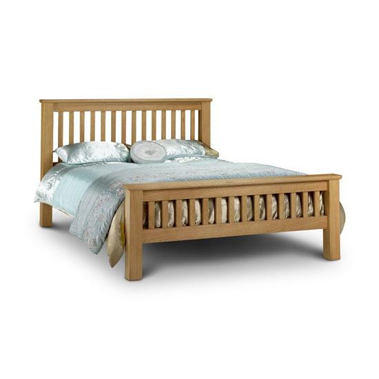 Amsterdam 180cm Wooden Bed In Oak Finish
