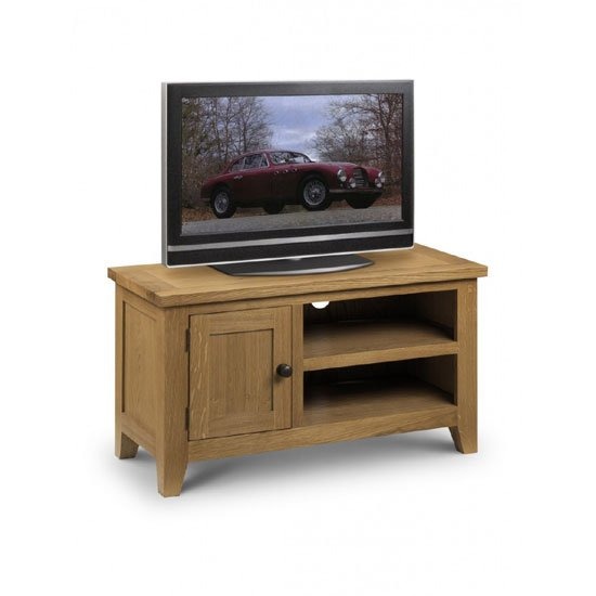 Read more about Raven wooden tv stand in oak finish with 1 door and 2 shelf