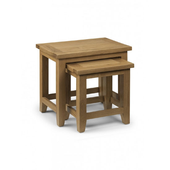 Photo of Raven wooden nest of tables in oak finish