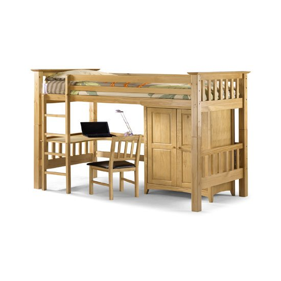 Bedsitter Children Bunk Bed In Antique Lacquered Finish