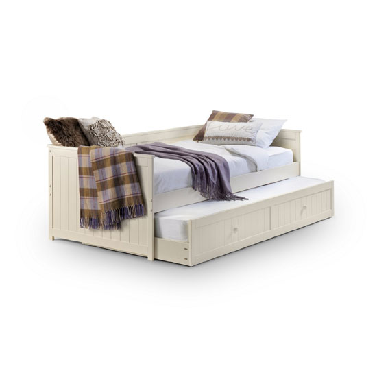Jessica Day Bed With Pull Out Under Bed In Stone White Finish