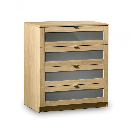 Simo Light Oak Finish 4 Drawer Chest