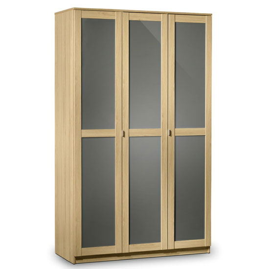Simo Light Oak Finish 3 Door Wardrobe