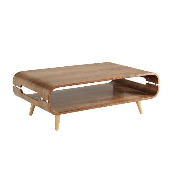 Marin Coffee Table In Walnut With Solid Ash Spindle Shape Legs_2
