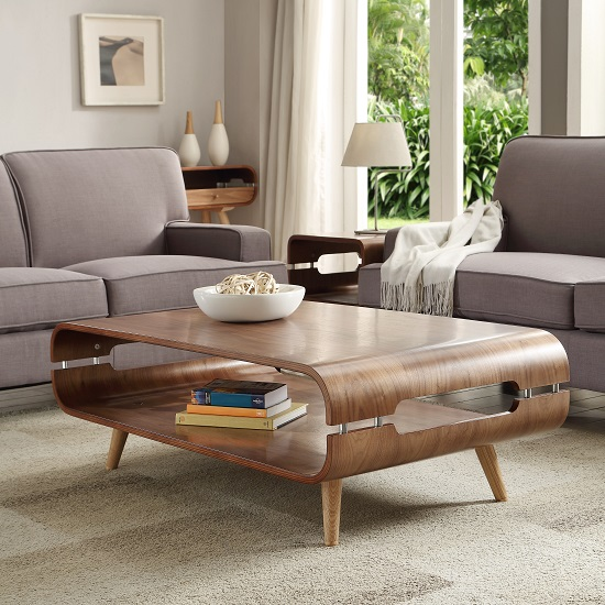 Walnut Oval Coffee Table Uk: Marin Coffee Table In Walnut With Solid Ash Spindle Shape