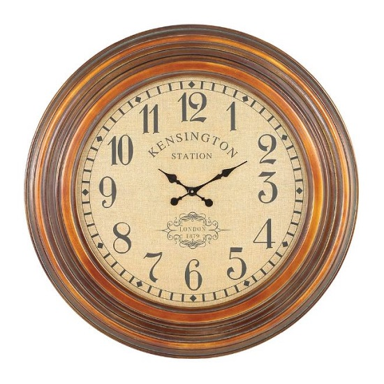 Max Traditional Wall Clock In Antique Copper Finish