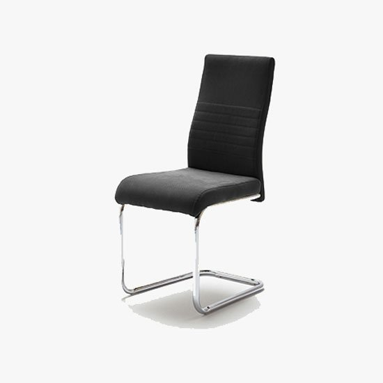 Read more about Jonas metal swinging black dining chair