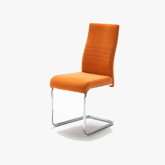 Read more about Jonas metal swinging orange dining chair