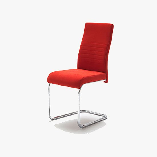Read more about Jonas metal swinging red dining chair
