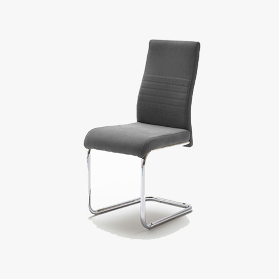 Read more about Jonas metal swinging grey dining chair