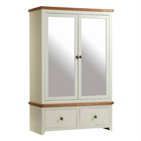 Jamestown 2 Mirrored Door 2 Drawer Wardrobe JA582 - Quality Modern Furniture: Buying Lounge and Fine Bedroom Furniture