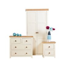 Jameson Bedroom Furniture Set In Cream And Oak