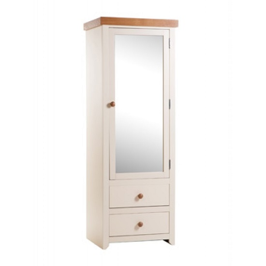 Read more about Jameson wardrobe in cream and oak with mirror door and 2 drawer