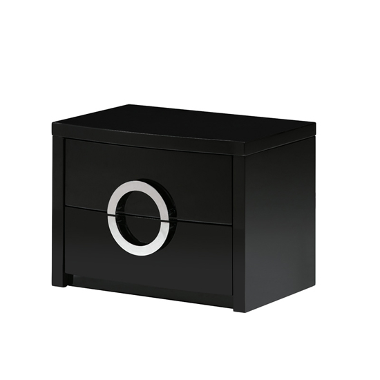 Read more about Jessica black high gloss two drawer bedside cabinet