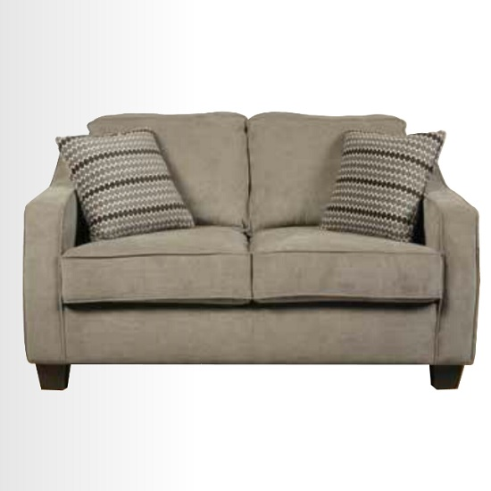 Lismore 2 Seater Sofa In Mink Fabric With Dark Feet