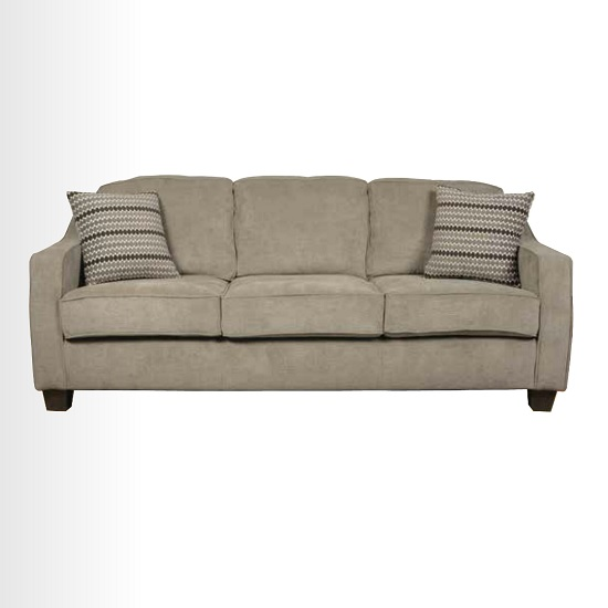 Lismore Fabric 3 Seater Sofa In Mink With Dark Feet