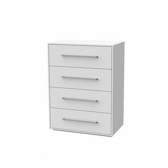 Armado Chest of Drawers In Gloss White With 4 Drawers