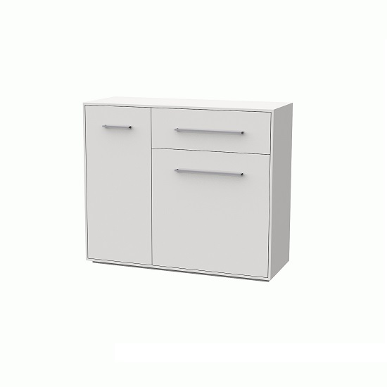 Armado Drawer Chest In Gloss White With 1 Drawer And 2 Doors