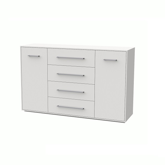 Armado Sideboard In Gloss White With 4 Drawers And 2 Doors