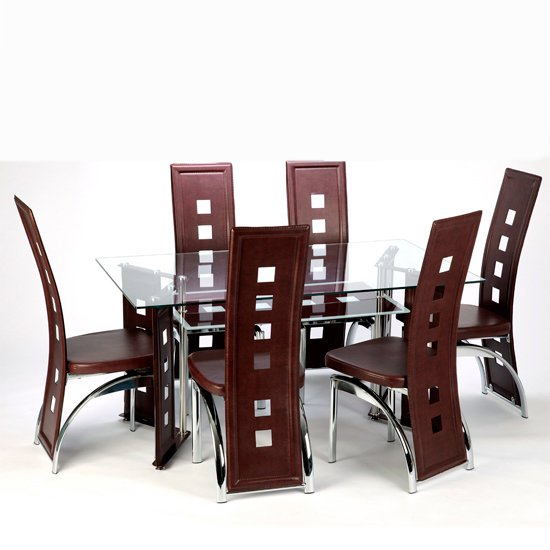 Buy cheap Square glass dining table compare Tables  : Juliett dining Rossini Brown from super.priceinspector.co.uk size 550 x 550 jpeg 141kB