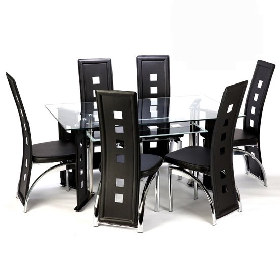 Juliett dining rossini black - Glass or Wood, what is Your Choice in Dining Room Furniture?