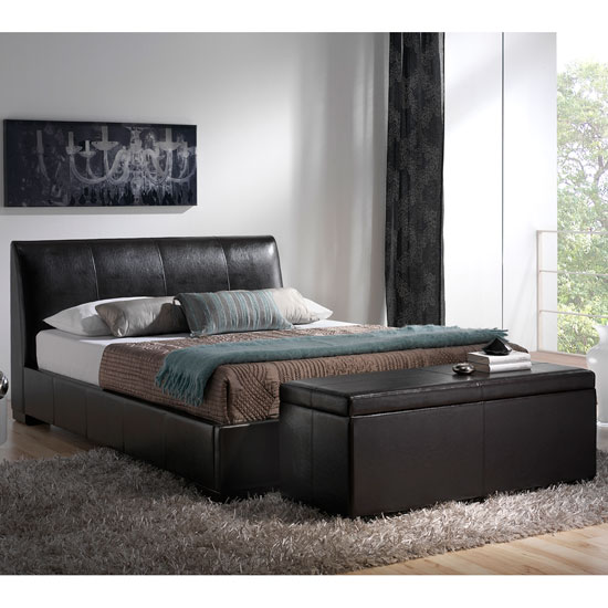 Faux Leather Storage Bed