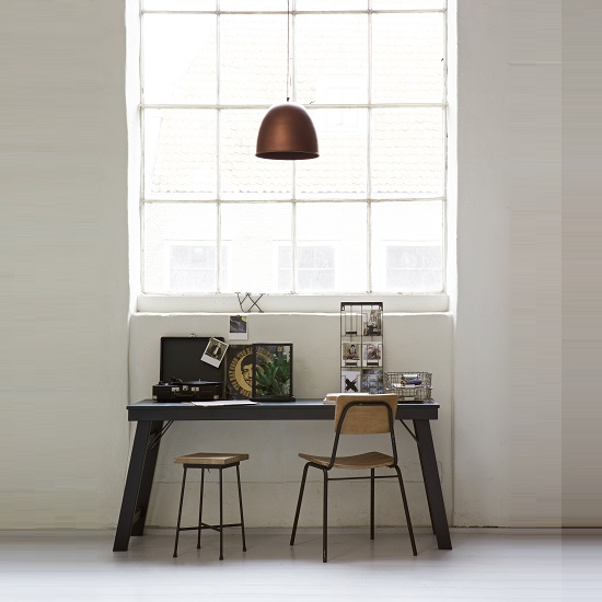 Hardy Wooden Computer Desk Rectangular In Black_2
