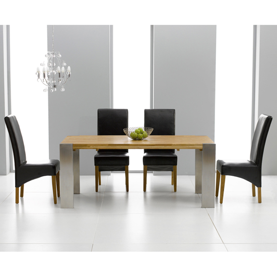 Louis Extending Solid Oak Dining Table And 8 Roma Chairs