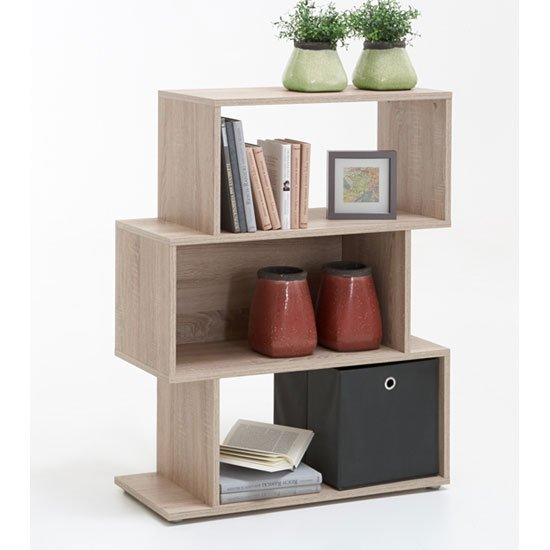 Kubi2 Shelving Unit In Oak With 3 Compartments