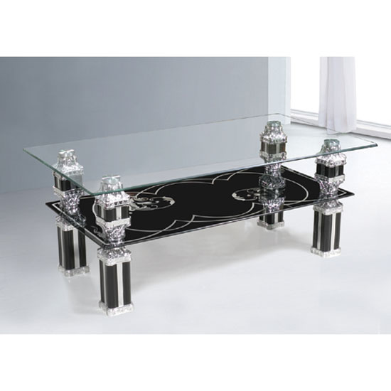 Glass Coffee Tables Wood Chrome Black Furnitureinfashion Uk