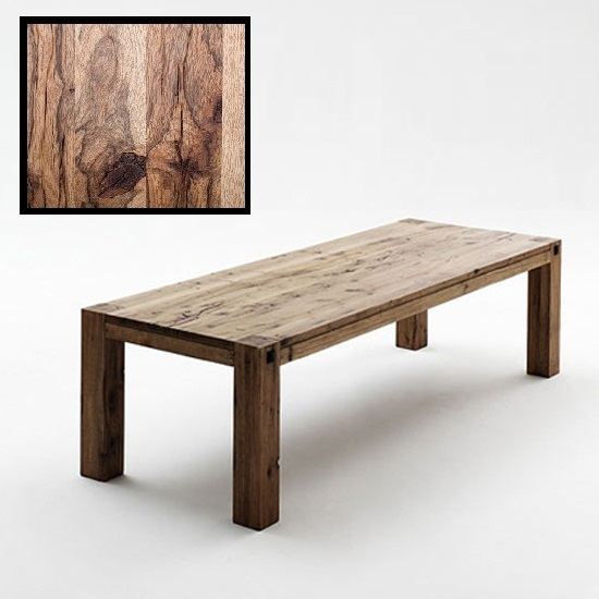 Leeds Wooden Dining Table In Solid Wild Oak In 180cm