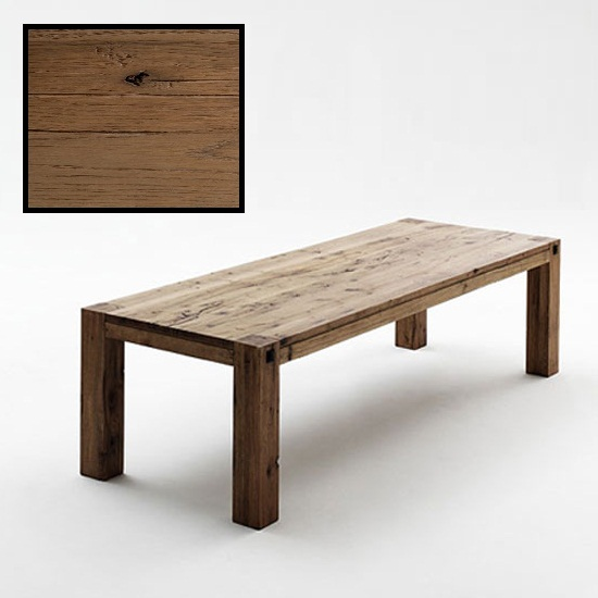 Leeds Wooden Dining Table In Solid Bassano Oak 220cm