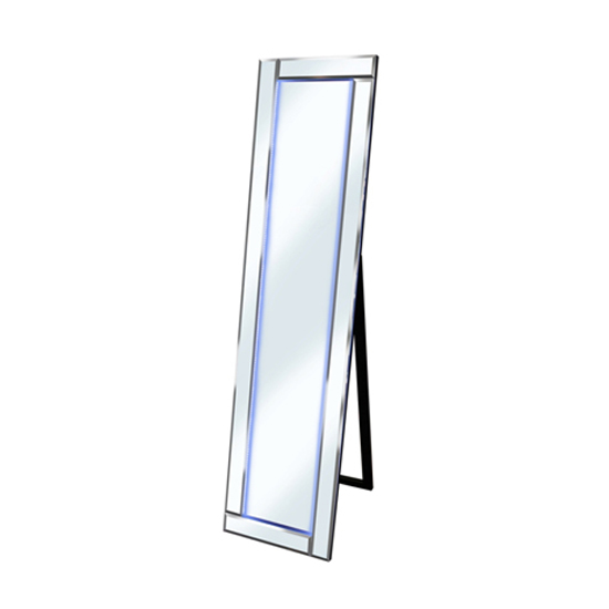 free standing mirror with storage shelves white led lights full length ireland