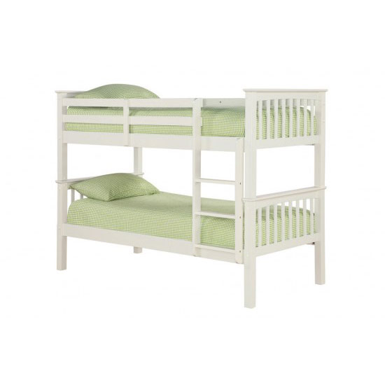Leno Solid Off White Finish 2 Tier Bunk Bed