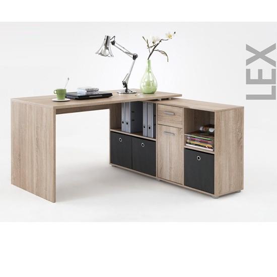 Details about LEX Canadian Oak Corner Computer Desk ,353-001