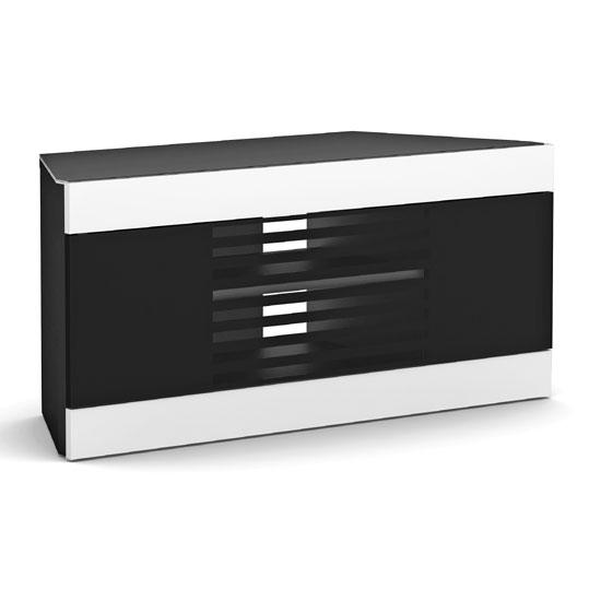 LI110 06 B&W - 4 Impressive Advantages Of A Black Corner TV Cabinet With Glass Doors