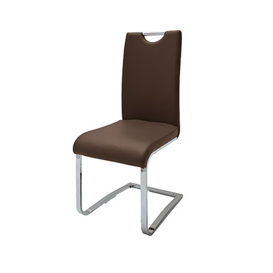 Louis Metal Swinging Brown Dining Chair