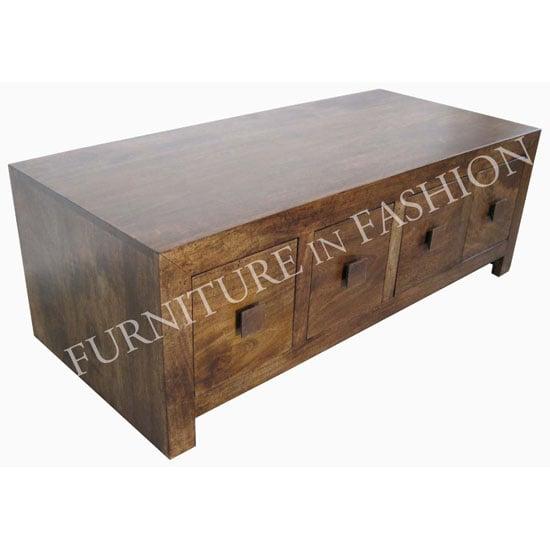 Dakota Trunk Coffee Table With Drawers Ls039 01n 7849 Furn