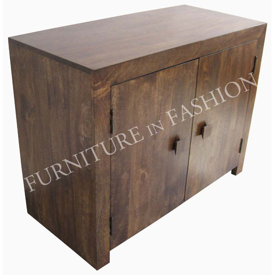 dakota wooden sideboard in dark wood with 2 doors sideboards