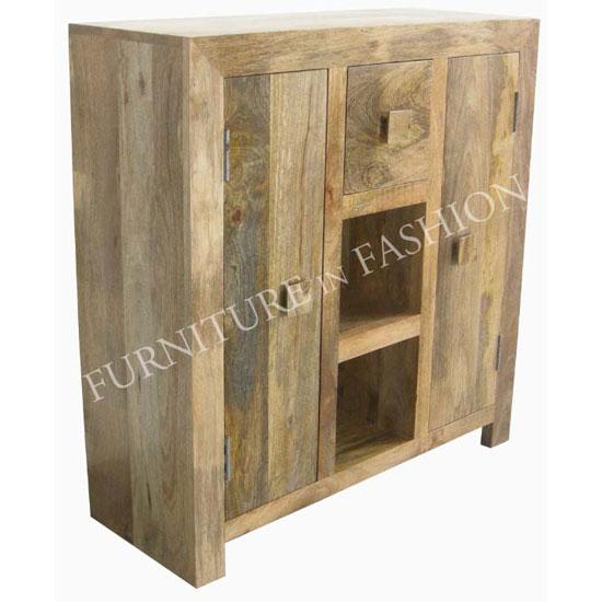 Dakota Compact Sideboard In Light Wood With 2 Doors