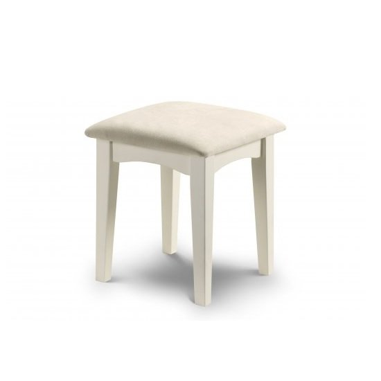 La Monte Stool In Silky Smooth Stone White With Padded Seat_1