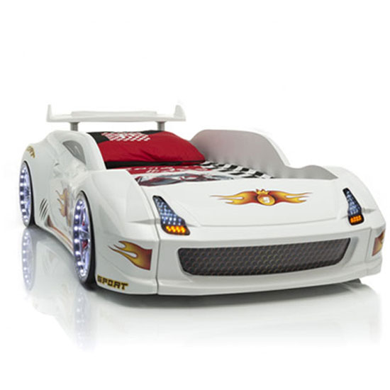 Lamborghini Car Bed White 1 - Types Of Car Beds - Full Size, Toddlers, And Other